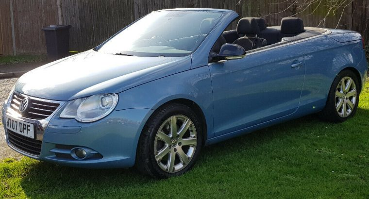 VOLKSWAGEN EOS 2.0T FSI SPORT 6 SPEED CONVERTIBLE LOW MILES PARKING SENSORS HISTORY ALLOYS AIRCON VW