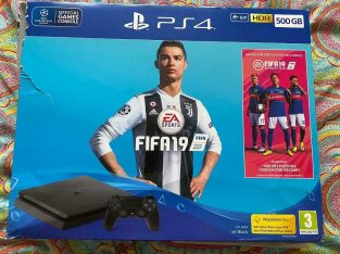 PS4 500GB SLIM BRAND NEW BOXED FIFA 19 & CONTROLLER!