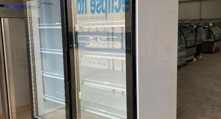 Commercial Double Door Display Freezer Glass