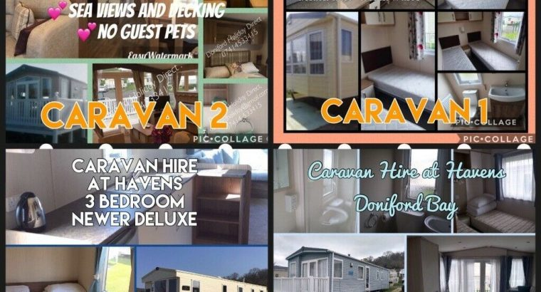 Caravan hire havens Doniford bay somerset & Caravan letting service for the uk £50 pw