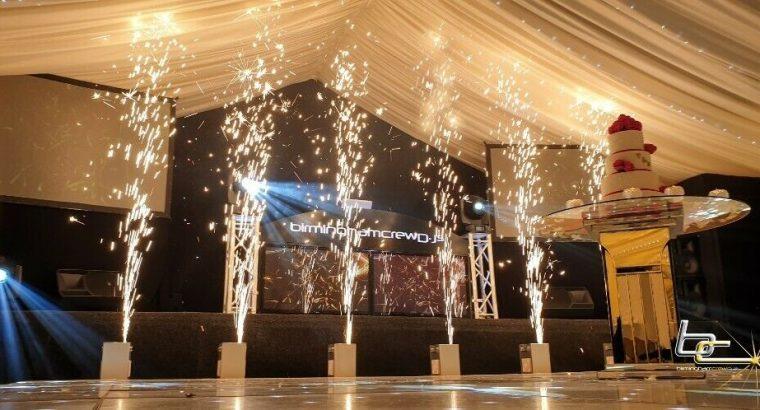 Sparkular indoor fireworks services