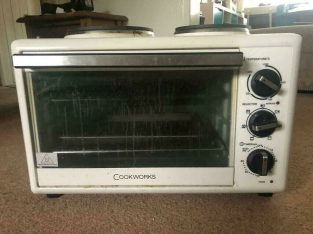 Cookworks Mini Cooker With 2 Hobs (£10) (FREE Dlv)