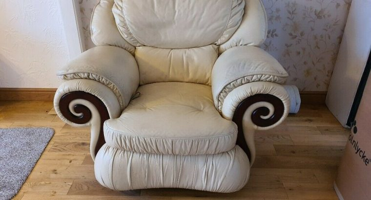 Free double bed and 2 leather chairs