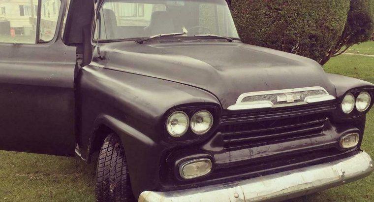 '58 Chevrolet Apache pickup truck, V8 5.7 running and ready
