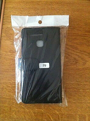 Huawei P9 Black leather flip phone case – Never Used