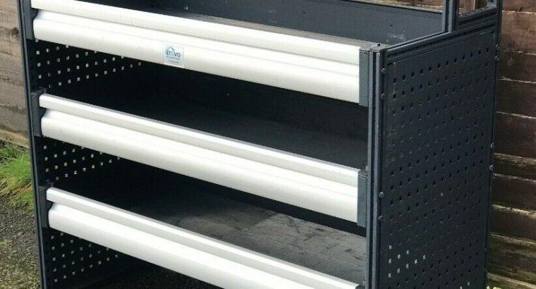 Van Racking / Shelving – TEVO / MODUL SYSTEMS / BOTT / SORTIMO – V G Condition – Incl Fixings