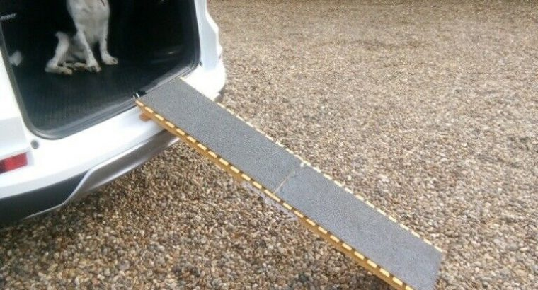 Folding dog ramp.