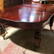 Victorian Mahogany Oval wind out extending table
