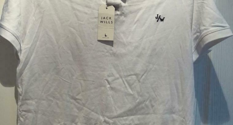 Jack wills aldgrove white polo top