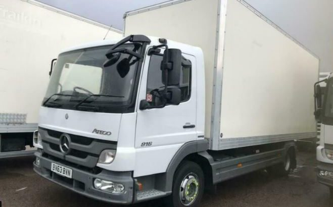 2013 MERCEDES Atego 2013 63 816 7.5T LORRY 20FT BOX TAILLIFT LOW MILEAGE NA Di