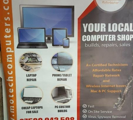 Computer Shop! Laptop/PC/Apple Mac/Tablet Repairs & Upgrades! Located near Leicester Town Center.
