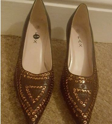 New Brown heeled Shoes £5