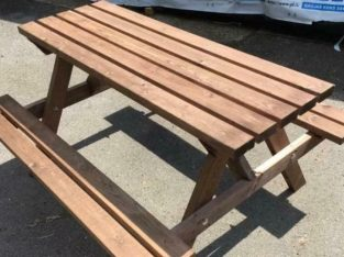 Picnic benches