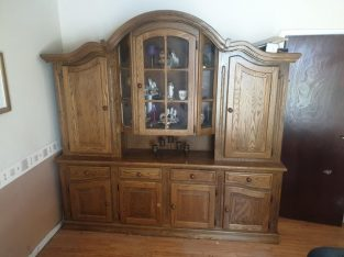 Solid oak display unit Offers Welcome
