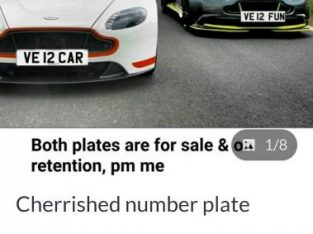 V12 CAR Private plate for sale ready and waiting