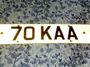 PRIVATE CAR PLATE70 KAA