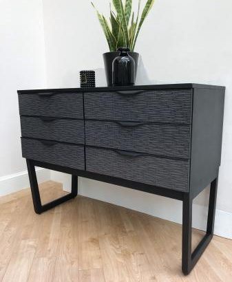 RETRO MID CENTURY CHEST OF DRAWERS / SIDEBOARD