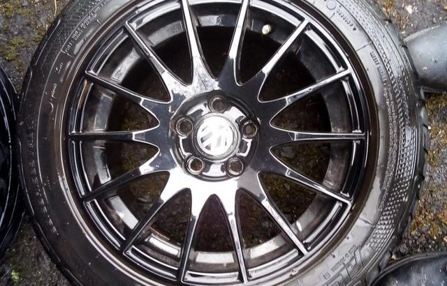 Volkswagen Italian Black Turbine 5 Stud SPORT Alloys x 4 Offer