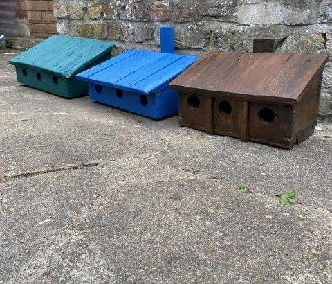 Triple birdhouse