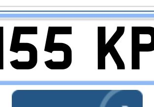 Private number plate K155 KPL
