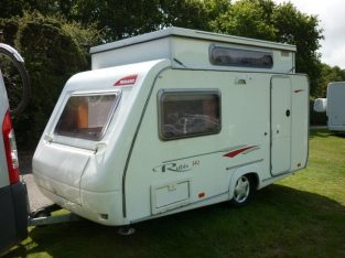 Trigano Rubis 340TDL pop top,2 berth caravan – 2006