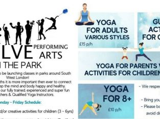 Yoga Sessions for Adults and Fun activities for Children