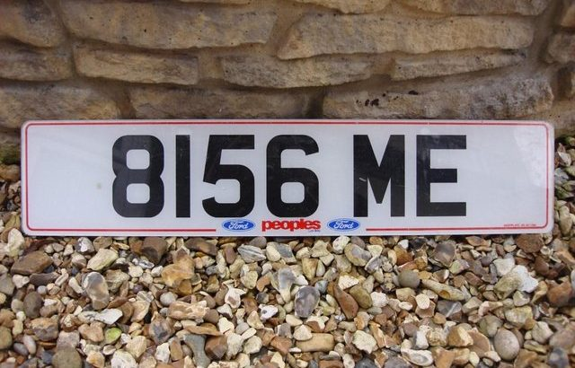 Cherished Number Plate, 8156 ME