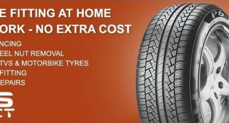 Mobile tyre fitting and repairs and home work or roadside