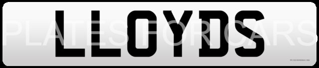 LLOYD personal private cherished number plate