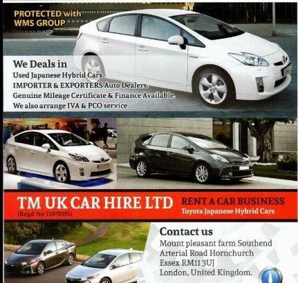 Euro 6 Model Report IVA/SVA Services Toyota Voxy, Estima, Prius, Prius Plus, Toyota Corolla & Serena
