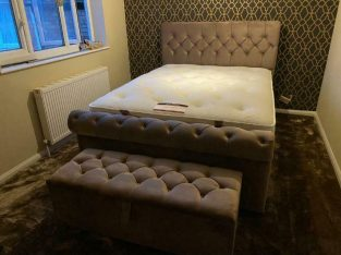 Sleigh bed frame Double or Kingsize