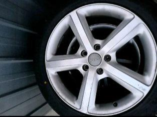 5×112 AUDI ALLOYS (20in) WITH GOOD TYRES (audi vw skoda BMW seat)