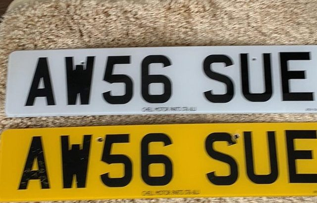 Private number plate AW56SUE
