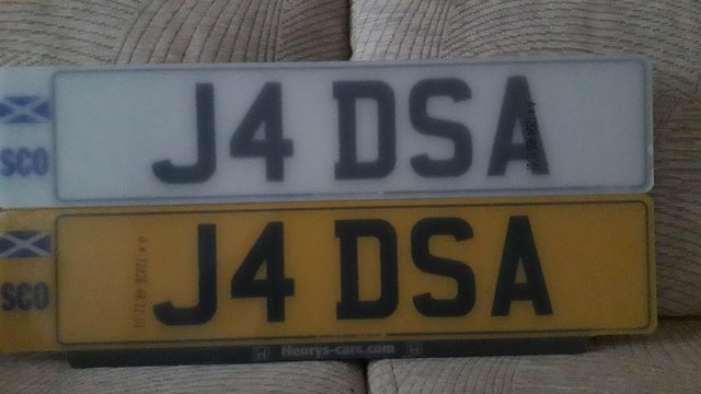 J4 DSA Personal number plate £650 OFFER AND ABOVE