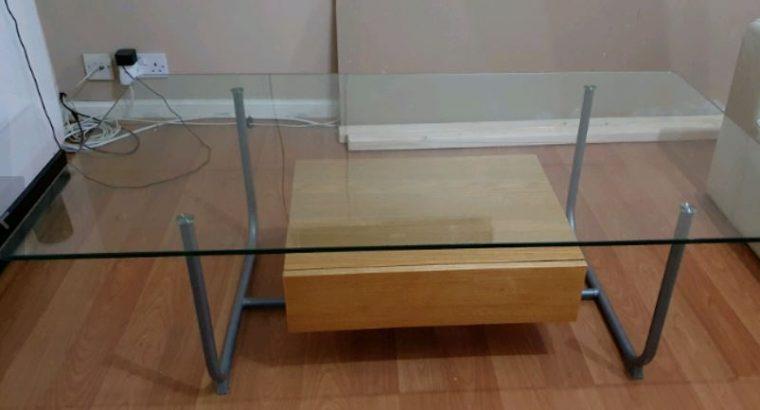 Glass coffee table – free