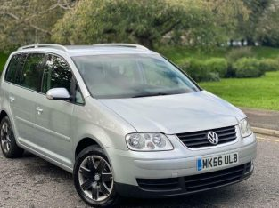 2006(56) Volkswagen Touran 2.0 TDI SE DSG 7 Seater 170 BHP Full Service History +Not Ford Seat Audi
