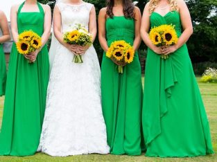 Size 10, green bridesmaid dress with straps, Alfred Angelo Offer