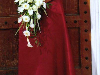 Wedding/Bridesmaid/Ball Gown – burgundy colour £ovno