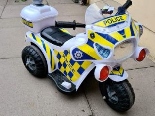 Electric kids police bike