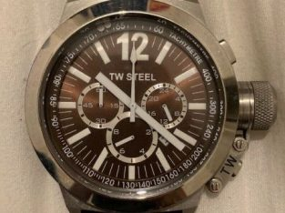 TW Steel Unisex Quartz Watch CE1011 Black 41 mm