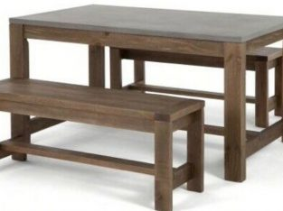 Brand new dining table and bench set