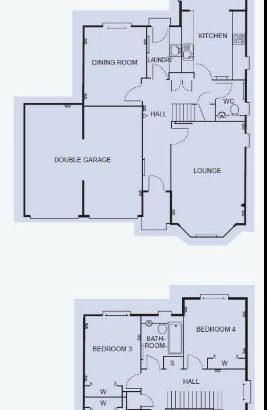 STEWARTON KA3- 7 APARTMENT DETACHED VILLA- 4 BEDROOMS – LARGE PRIVATE GARDEN-DOUBLE GARAGE- FOR SALE