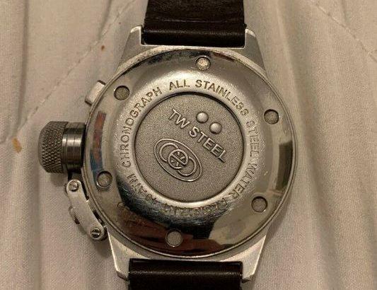 TW Steel Unisex Quartz Watch CE1011 Black 41 mm
