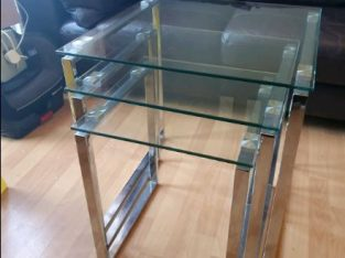 Nest of glass tables from Next, side table