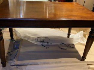 Solid Mahogany Dining Table – New