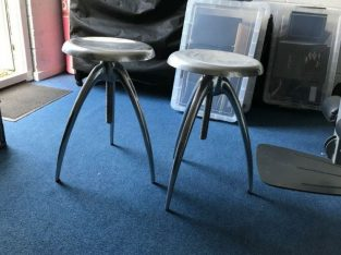 Pair of Retro adjustable breakfast bar stools