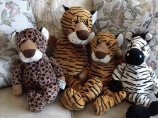 Russ Berrie Jungle Bundle 4x Soft Toys