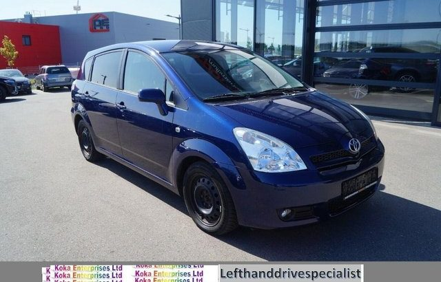 Left hand drive Toyota Corolla Verso 2.2Dti 2007 LHD 7 seat