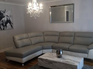 DFS right hand corner couch (white & grey) £500 ono