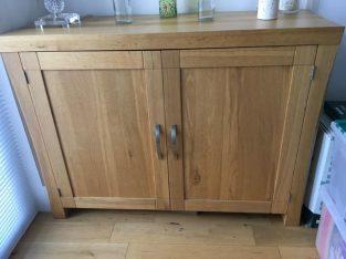 Contemporary solid oak sideboard £100 ono